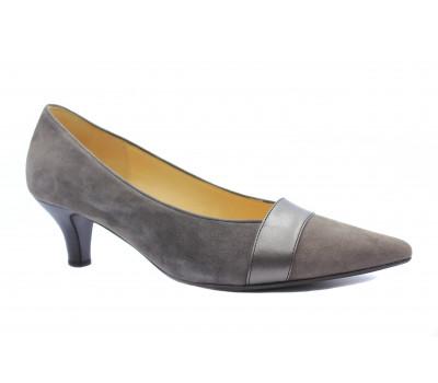 Модельные туфли Gabor замшевые темно-серые 91253