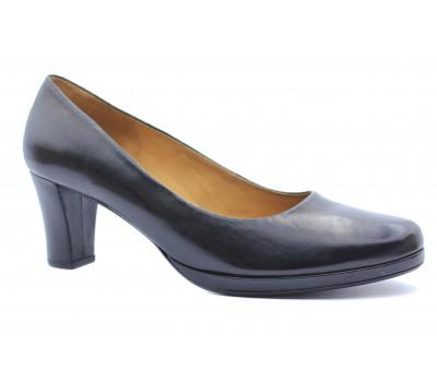 Модельные туфли Gabor кожаные черные 72190