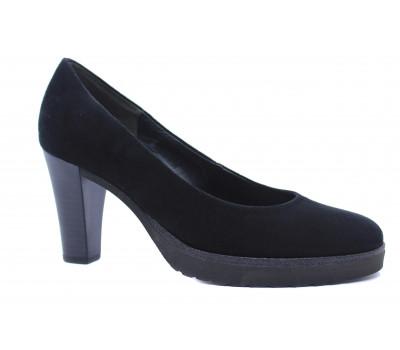 Модельные туфли Gabor черные замшевые 51220