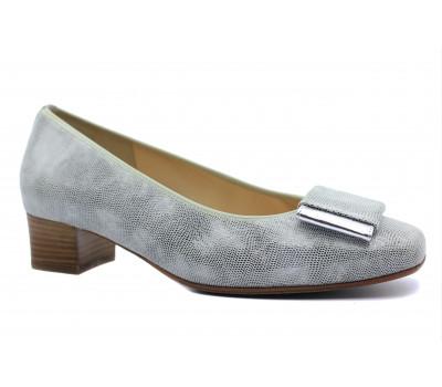 Модельные туфли Hassia из крека серые 9-303305