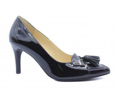 Модельные туфли Hogl из лакированной кожи черные 4-107054