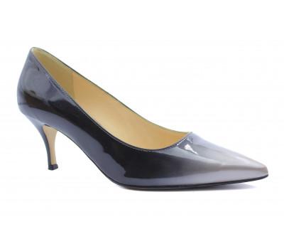 Модельные туфли Hogl из лакированной кожи черно-серого цвета 0-106005