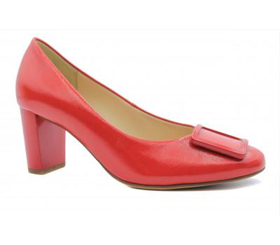 Модельные туфли Hogl из лакированной кожи красные 9-105043