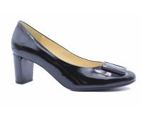 Модельные туфли Hogl из лакированной кожи черные