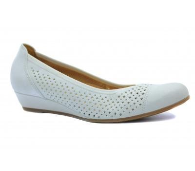 Туфли Gabor кожаные белые 62695