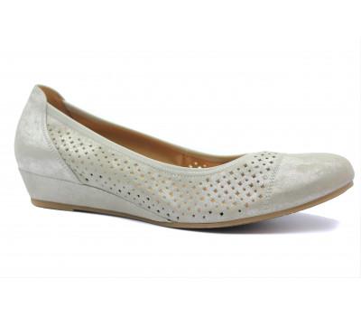 Туфли Gabor из нубука серые 62695