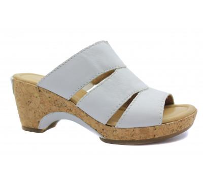 Сабо Gabor белые кожаные 42743