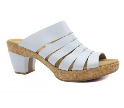 Сабо Gabor белые кожаные 22730