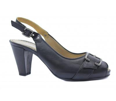 Босоножки Gabor черные кожаные 05880