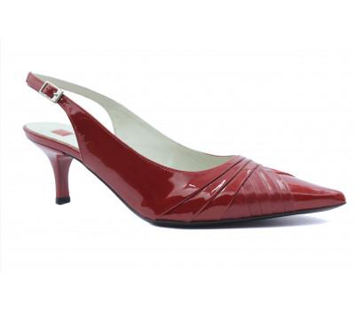 Босоножки Hogl замшевые красные с деталями из лака 7-105654