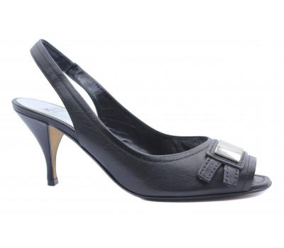 Босоножки K&S кожаные черные 77520-370