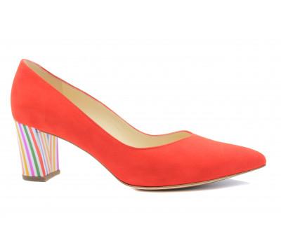 Модельные туфли Peter Kaiser замшевые красные 67111-720