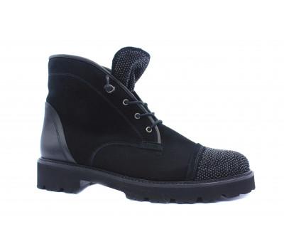 Ботинки Gabor из нубука черные 71801