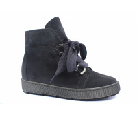 Демисезонные ботинки Gabor из нубука серые