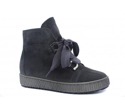 Демисезонные ботинки Gabor замшевые серые 93760