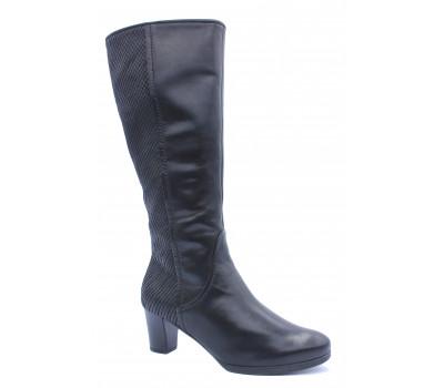 Демисезонные сапоги Gabor кожаные черные 36596