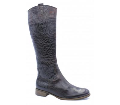 Демисезонные сапоги Gabor кожаные темно-коричневые 31639.88