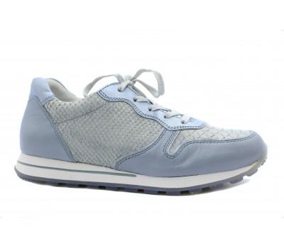 Кроссовки Gabor серо-голубые кожаные 46365