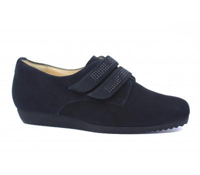 Туфли Hassia черные замшевые с отделкой сваровски 4-301442