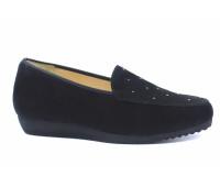 Туфли Hassia черные замшевые с отделкой сваровски