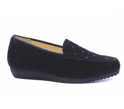 Туфли Hassia черные замшевые с отделкой сваровски 4-301452
