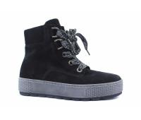 Демисезонные ботинки Gabor замшевые черные