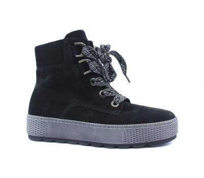 Ботинки Gabor замшевые черные 36565