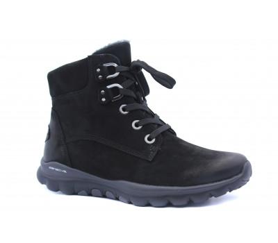 Ботинки Gabor из нубука черные 36955