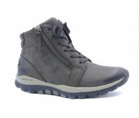 Демисезонные ботинки Gabor из нубука темно-серые
