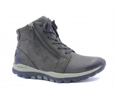 Ботинки Gabor из нубука серые 36958