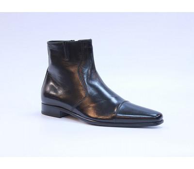 Сапоги ROMIT на кашемире кожаные черные 10193
