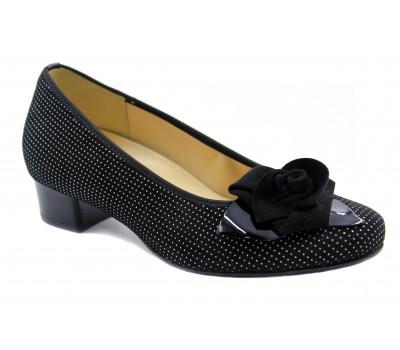 Модельные туфли Hassia замшевые черные 9-303412