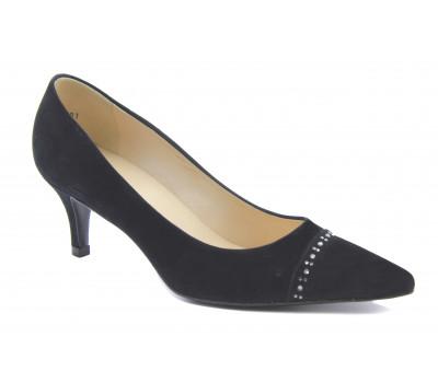 Модельные туфли Peter Kaiser замшевые черные 61569-990