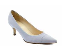 Модельные туфли Peter Kaiser замшевые серо-голубые