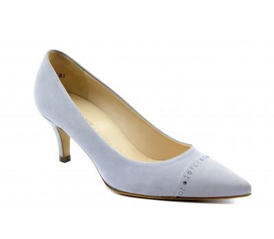 Модельные туфли Peter Kaiser замшевые серо-голубые 61569-460
