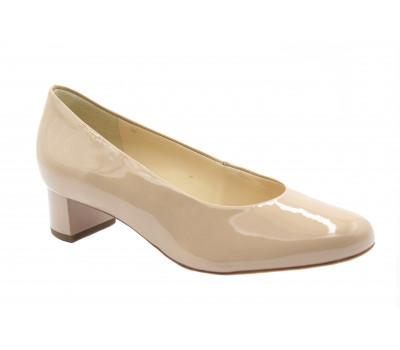 Туфли Hogl из лакированной кожи бежевые 1-103004