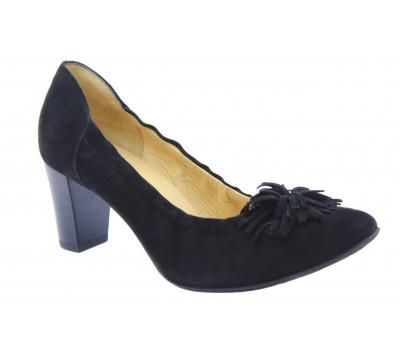 Модельные туфли Peter Kaiser замшевые черные 52509-240