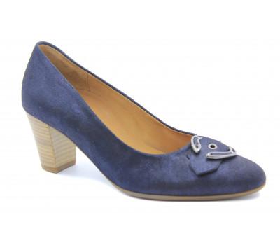 Модельные туфли Gabor из нубука синие 42163