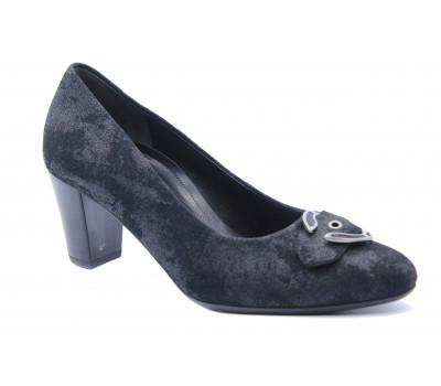Модельные туфли Gabor из нубука черные 42163