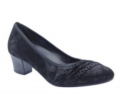 Модельные туфли Gabor из крека черные 42113