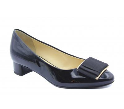 Модельные туфли Hogl из лакированной кожи черные 5-103414