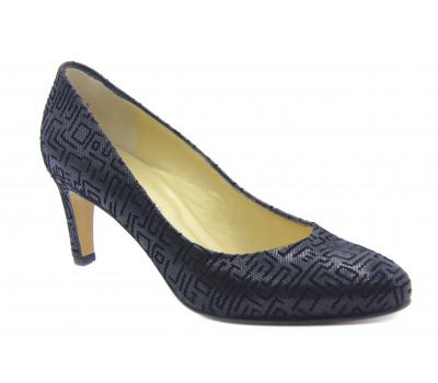 Модельные туфли Peter Kaiser из крека черные 72601-430