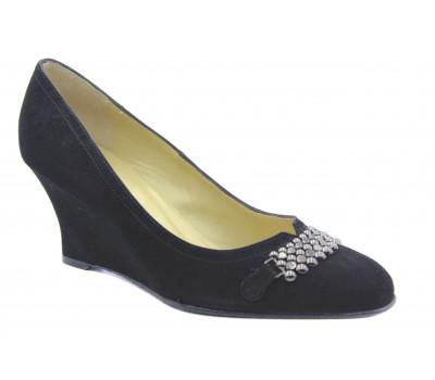 Туфли Peter Kaiser замшевые черные 70417-240