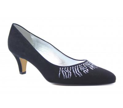 Модельные туфли Peter Kaiser замшевые черные 41427-065