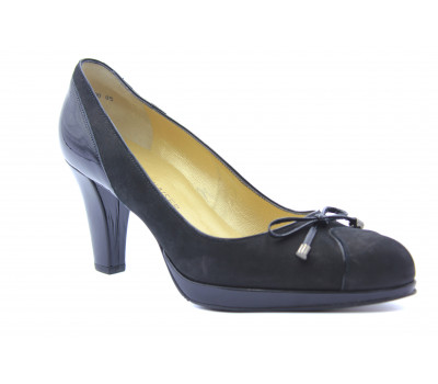 Туфли Peter Kaiser из нубука черные 77457-816