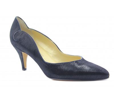 Модельные туфли Peter Kaiser из крека черные 61657-749