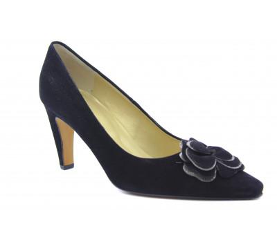 Модельные туфли Peter Kaiser замшевые черные 64623-985
