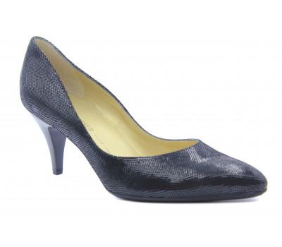 Модельные туфли Peter Kaiser из крека черные 63641-433