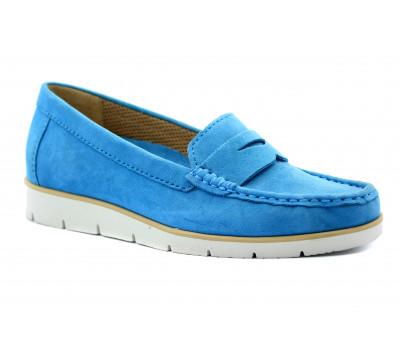 Мокасины Gabor голубые замшевые 44220