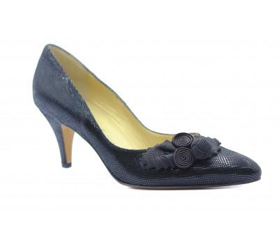Модельные туфли Peter Kaiser из крека черные 61647-433